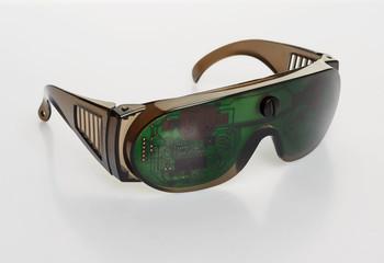 Futuristic microchip goggles