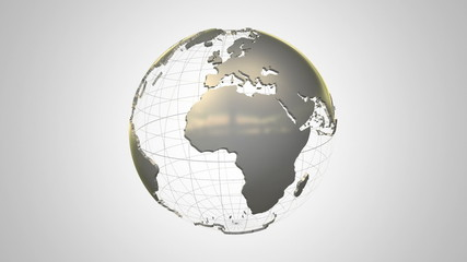 Rotating earth globe HD 1080