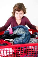 Mädchen mit Wäsche