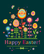 Abstract easter postcard