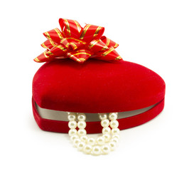 red gift box for jewelry