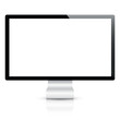Computer display isolated on white vector eps10