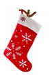 Traditional fur red Christmas stocking