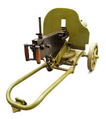 Old machine gun. Clipping path included.