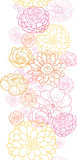 Vector wedding bouquet flowers elegant vertical seamless