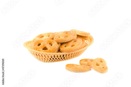 Basket with cookies