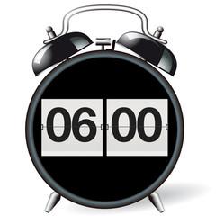 Wecker retro - Uhrzeit 06:00