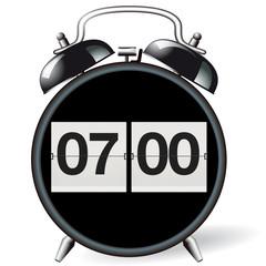Wecker retro - Uhrzeit 07:00