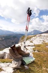 Wanderschuhe in den Dolomiten - Alpen