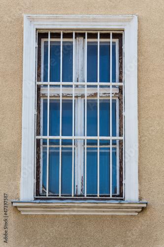 vergitterte Fenster