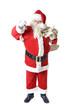 Weihnachtsmann mit Glocke und Sack