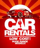 Fototapety Car rentals design template