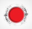 Abstract red round business technology dynamic fade background