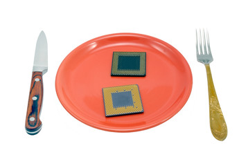 CPU on the red plate