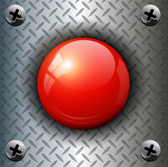 Red alarm shiny button background