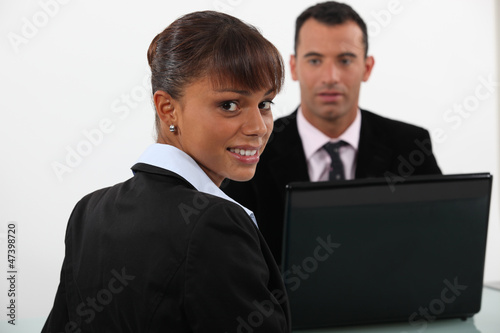 Business people at a desk