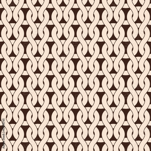 Staande foto Kunstmatig Knitted seamless pattern in natural color