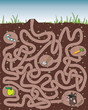 Mole Maze Game ... with solution in hidden layer