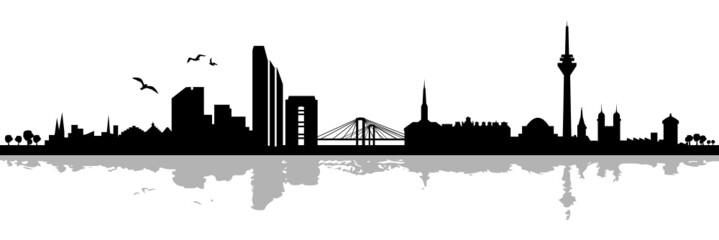 Düsseldorfer Skyline Schatten