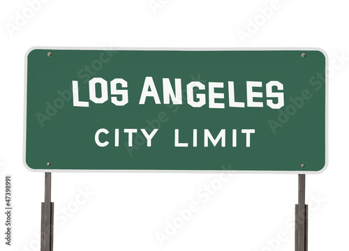 Los Angeles City Limit Sign with Handmade Font