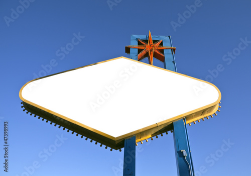 Las Vegas Sign Backside Cut Out with Clipping Path