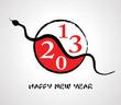 2013 Yin Yang Snake greeting card
