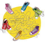 Fototapety Sneakers Maze Game