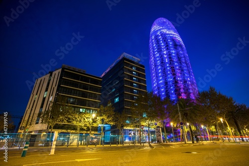 BARCELONA - NOVEMBER 24: Torre Agbar office building, Spain
