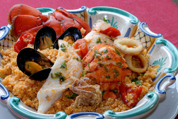 Couscous with fishes