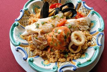 Sicilan fish cous cous
