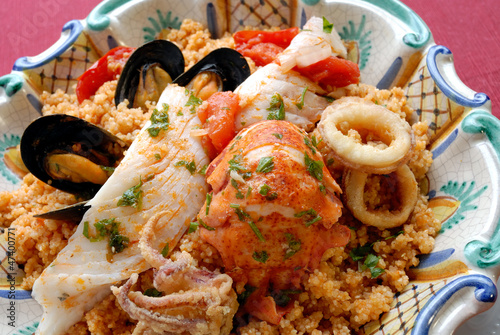 Sicilan fish couscous