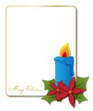 Card with candle