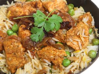 Indian Chicken Tikka Biryani Curry