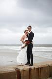 Fototapety Hochzeitspaar am Strand