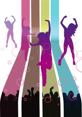danseuses en démonstration