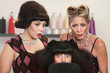 Shocked Lady in Hair Salon
