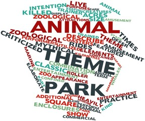 Word cloud for Animal theme park