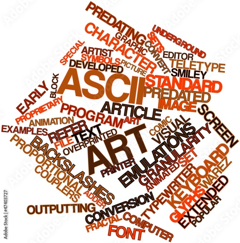 Word cloud for ASCII art
