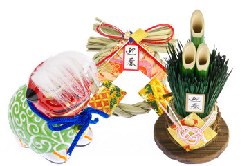 ornaments of the Japanese New Year
