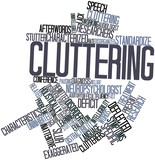 Word cloud for Cluttering poster