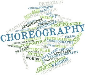 Word cloud for Choreography