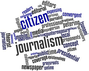 Word cloud for Citizen journalism