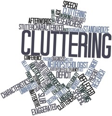 Word cloud for Cluttering
