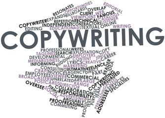 Word cloud for Copywriting