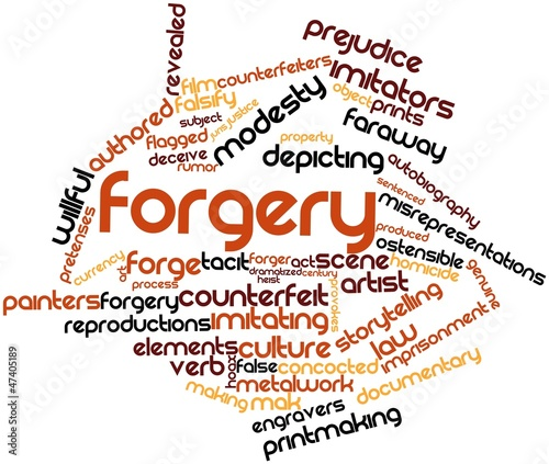 Word cloud for Forgery