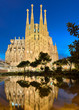 Sagrada Familia at night, Barcelona