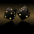 Black and gold dices
