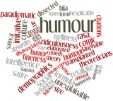Word cloud for Humour poster