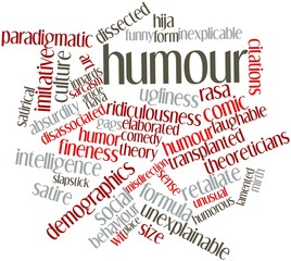 Word cloud for Humour