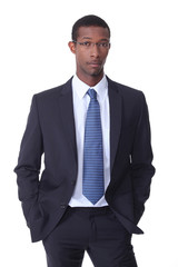 Black young businessman